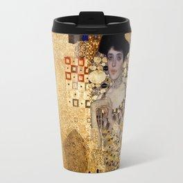 Portrait of AdeleBloch Bauer by Gustav Klimt Travel Mug