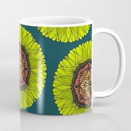Artsy Summer Neon Yellow Lace Sunflower Coffee Mug