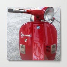 Vespa Rosso Metal Print