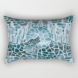 Moonlight Story (Platinum) Rectangular Pillow