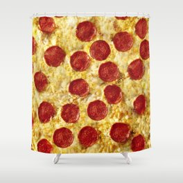 Who Wants Pizza? Shower Curtain