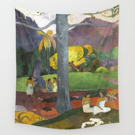 Mata Mua by Paul Gauguin Wall Tapestry