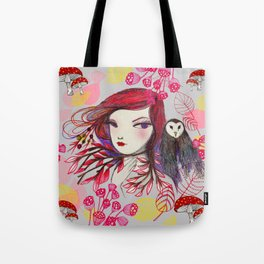 Red Owl Tote Bag