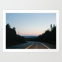 We long for journeys and the roadside   canada - ontario - road - landscape - travel - photography Art Print