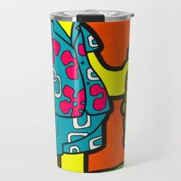 Ay Ca-Rum-ba! - bart pop art painting Travel Mug