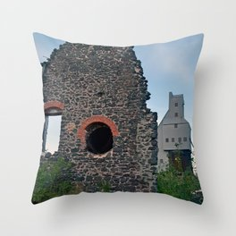 Quincy Hill Mine Shaft and Ruins Throw Pillow