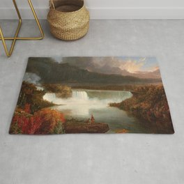 Distant View of Niagara Falls by Thomas Cole Rug