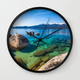 Let's Jump In At Sand Harbor, Lake Tahoe Wall Clock