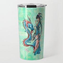 Blue dragon Travel Mug