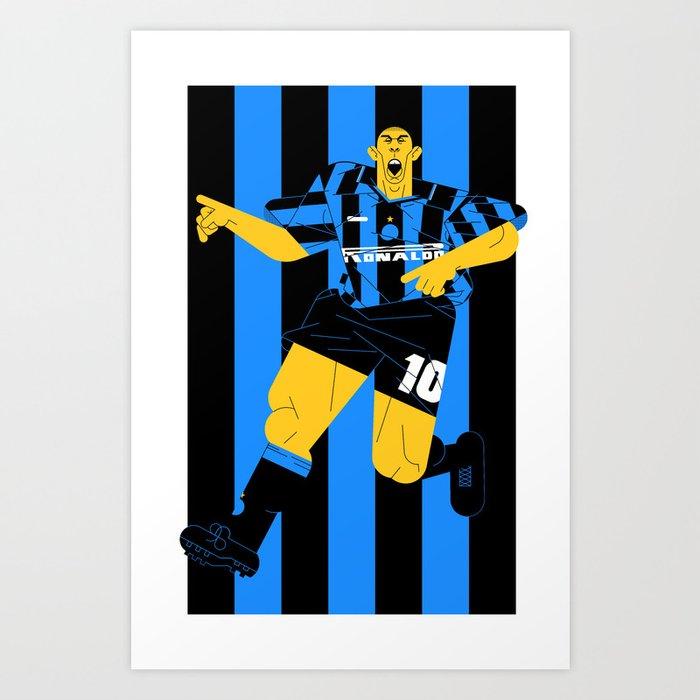 R10 Nerazzurri Art Print