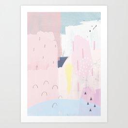 02 Abstract 104 - Yellow Art Print