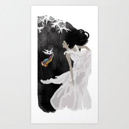 Goodbye summer Art Print