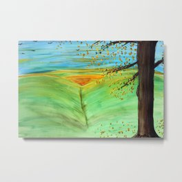 Sunrise on the Meadow Metal Print