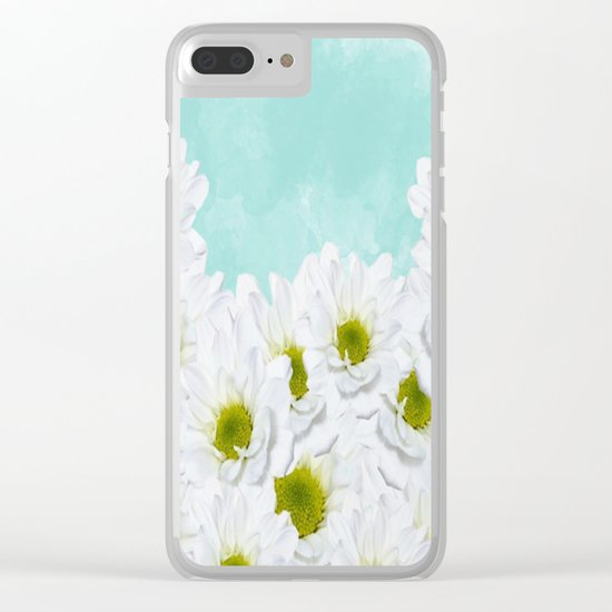 Summer Day Floral Clear iPhone Case
