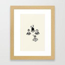 I am chessman - Ivory Framed Art Print