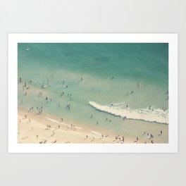 beach love II - Nazare Art Print