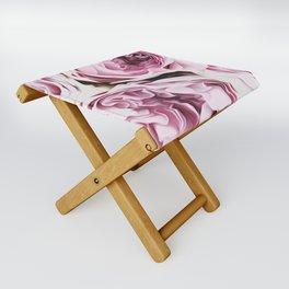 Peonies Illustration Folding Stool