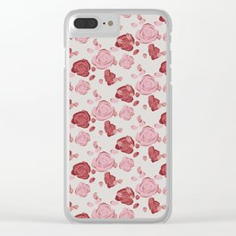 Roses pattern 3a Clear iPhone Case