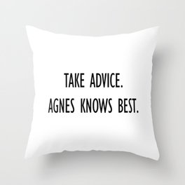 From Agnes-With Love Throw Pillow