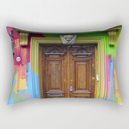 Painted Entrance, Palermo, Buenos Aires Rectangular Pillow