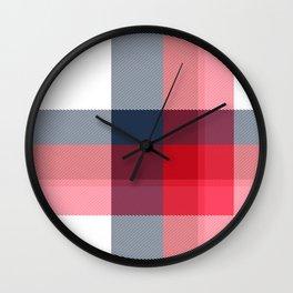Minimal Plaid 3 Wall Clock