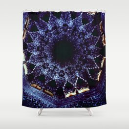 Looking Up Stalactite Dome, Alhambra Shower Curtain