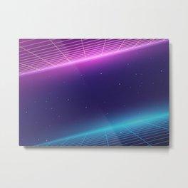 Synthwave Retro Galaxy  Metal Print