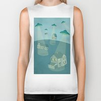 ufo Biker Tanks featuring UFO by Banessa Millet