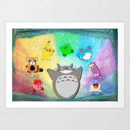 Video game Anime Character Rainbow Art Print