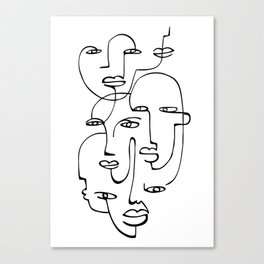 Abstract faces Canvas Print