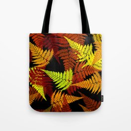 Abstract Fern Pattern Tote Bag