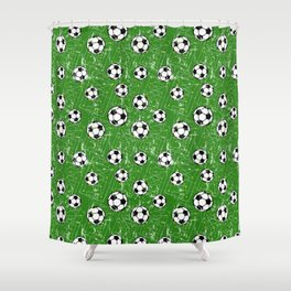 Soccer Pattern | Goal Score Stadium Champion Shower Curtain