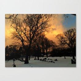 Tangerine Graveyard Canvas Print
