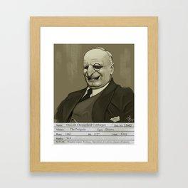 1930s The Penguin Mugshot Framed Art Print