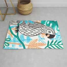 Parrot in the Jungle Rug