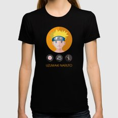 naruto LARGE Black Womens Fitted Tee