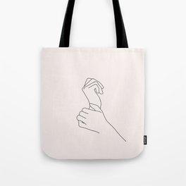 Hands line drawing illustration - Nellie I Tote Bag