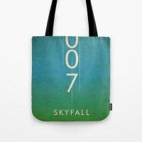 skyfall Tote Bags featuring skyfall by alex lodermeier