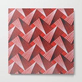Shweshwe South African Geometric Pattern Metal Print