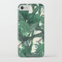 banana leaf iPhone & iPod Cases featuring Banana Leaf Pattern 2 by Tamsin Lucie