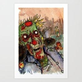 zombie grave rising Art Print