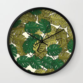 Botany: Monstera Deliciosa Wall Clock