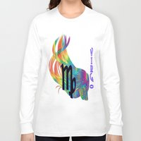 virgo Long Sleeve T-shirts featuring Virgo by LBH Dezines