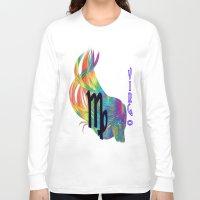 virgo Long Sleeve T-shirts featuring Virgo by LBH Dezines