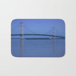 The Mackinac Bridge & the Great Lakes Freighter Bath Mat