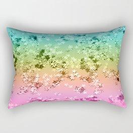 Rainbow Stars Glitter #1 #shiny #decor #art #society6 Rectangular Pillow