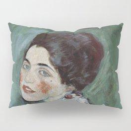 Stolen Art - Portrait of a Lady by Gustav Klimt Pillow Sham