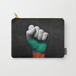 Bulgarian Flag on a Raised Clenched Fist Carry-All Pouch