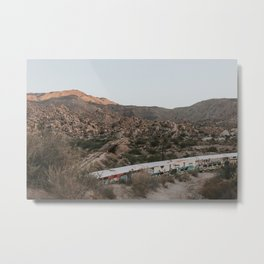 Abandoned Trains in the Mountains Metal Print