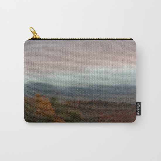 Fog Rolling Over The Hills Carry-All Pouch